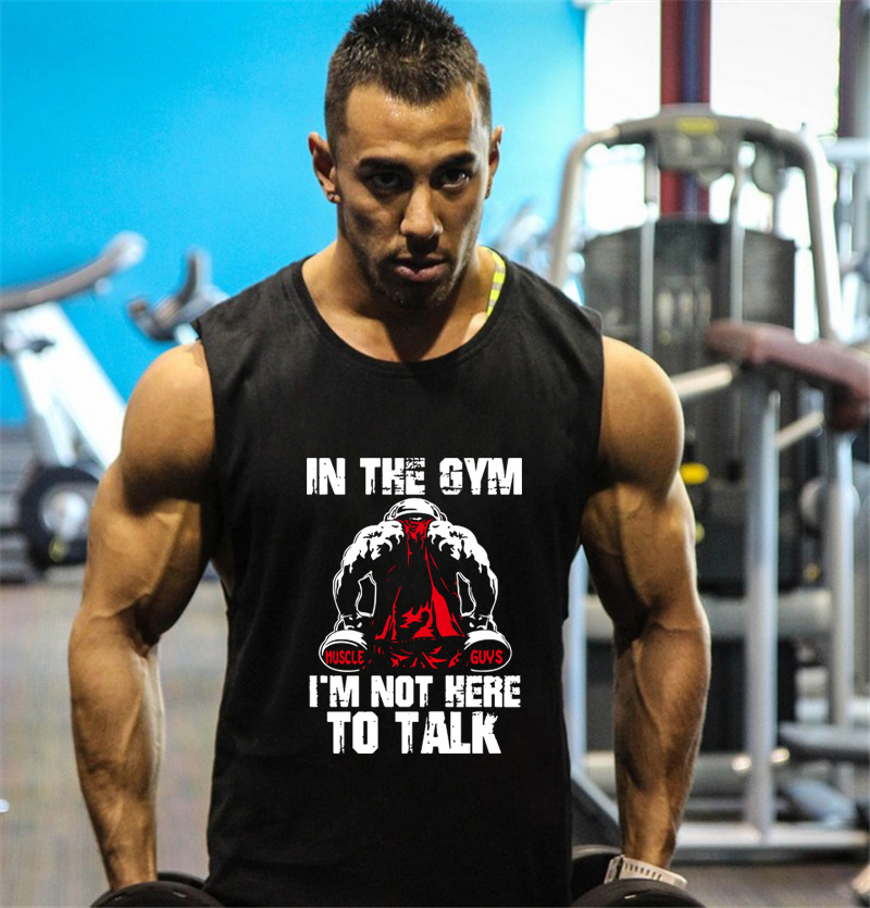 Fitness Men Tank Top Bodybuilding Stringers Tank Tops Singlet Brand Gyms Clothing Cotton Sleeveless Shirt Muscle Tops