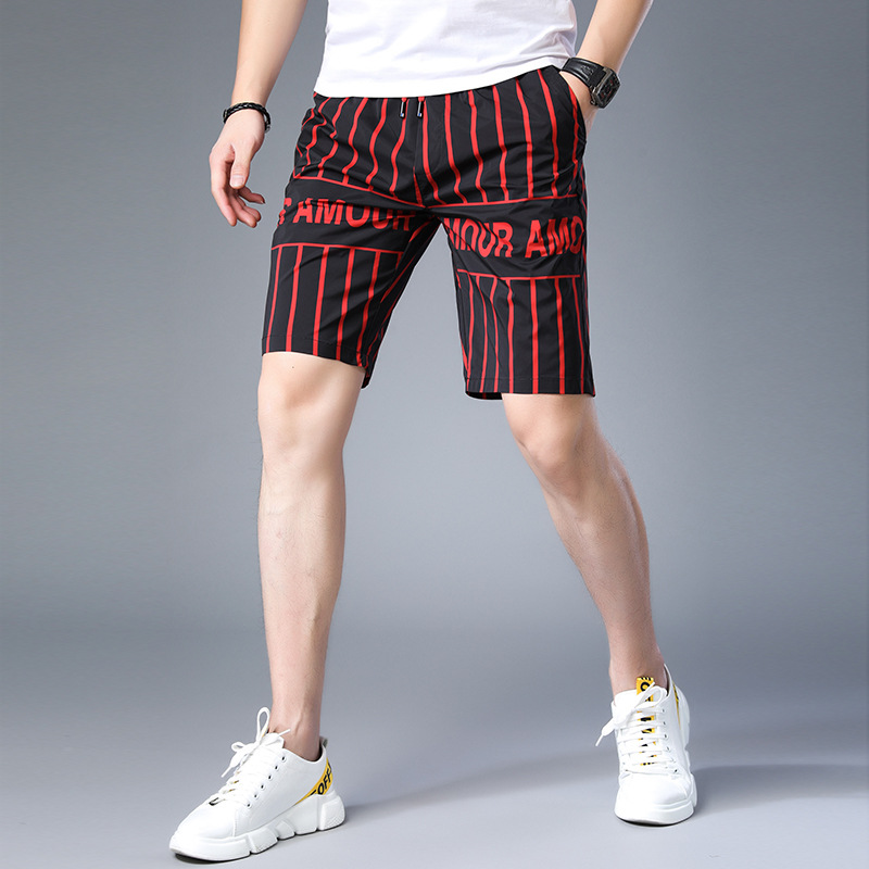 Five Pants 2019 Summer Casual Men 39 s Shorts Running Sports Loose Straight Printing Shorts For Men in Casual Shorts from Men 39 s Clothing