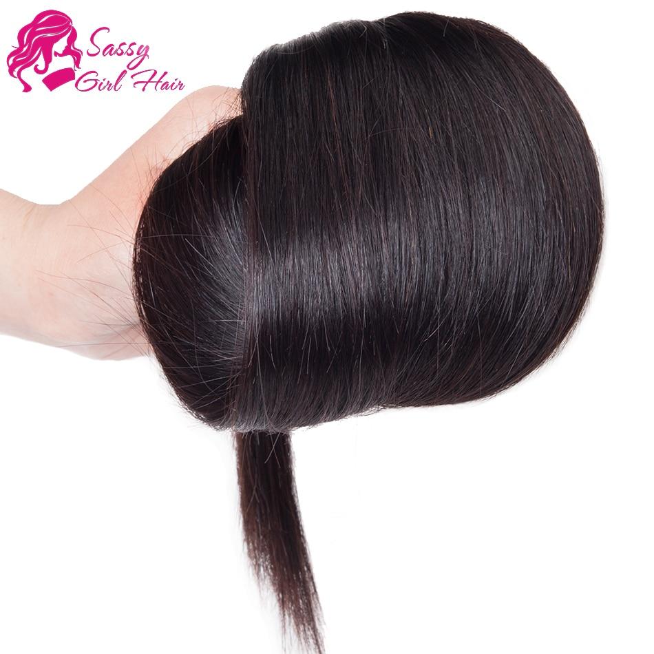 Virgin Brazilian Straight Hair 4 Bundle Sassy Hair Extensions Sassy