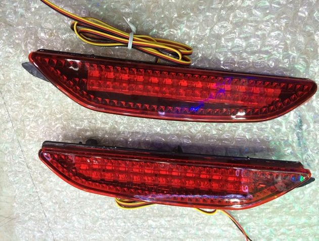 ФОТО Car rear brake lights rear bumper LED warning lights products accessories,suitable for Kia Rio K2 sedan 2011-2013