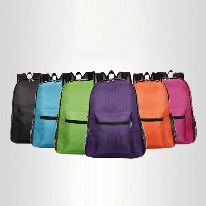 Portable Fold Backpack Zipper Soild Nylon Ultralight Traveling Women Men Shoulder Bags Folding Bag KA-BESTPortable Fold Backpack Zipper Soild Nylon Ultralight Traveling Women Men Shoulder Bags Folding Bag KA-BEST