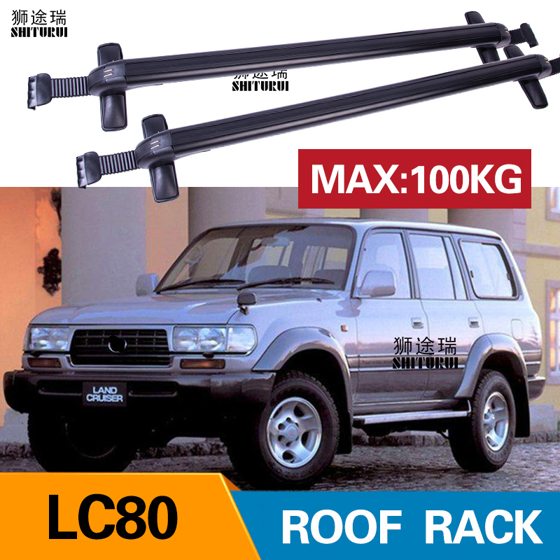 2Pcs Roof Bars For TOYOTA LC80  LAND CRUISER 80 Without Railing 2010+ Aluminum Alloy Side Bars Cross Rails Roof Rack Luggage