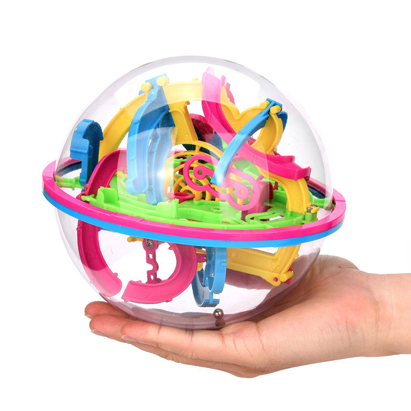 118 Barriers Mini Ball Maze Intellect 3d Puzzle Toy Balance Barrier Magic Labyrinth Spherical For Children Development Drop Ship
