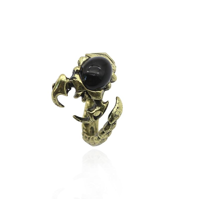 ღ ƹ ӝ ʒ ღgothique Scorpion Anneau Vintage Personnalite