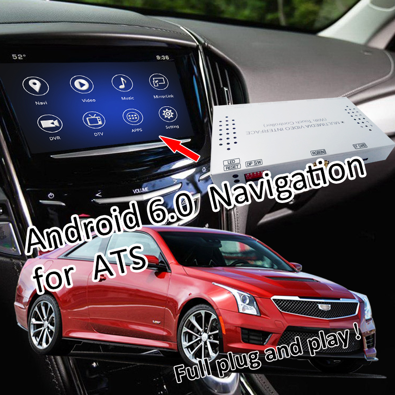 2014 Cars Cadillac Cts Use: Plug&Play Android 6.0 All In One Car Navigation For 2014
