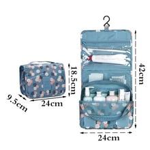 Cosmetic Storage Bag Bathroom Hanging Toiletry Bag,Travel Portable Waterproof Oxford Cosmetics Bags Makeup Organizer