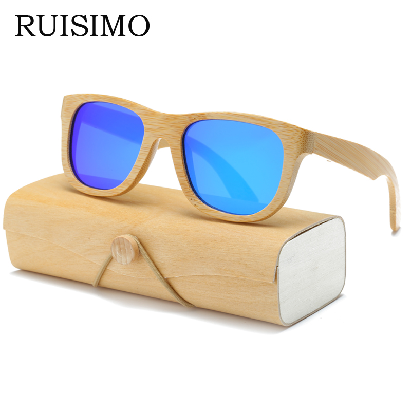 Wood Sunglasses Men women square bamboo Women for men women Mirror Sun Glasses retro de sol masculino 2017 Handmade with case
