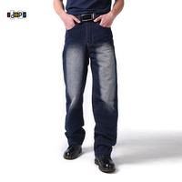 Cool Hip Hop mannen Jeans Plus Size 30-46 Zuur Gewassen Vintage Retro Faded Kleur Losse Fit Baggy Denim Broek Jeans Voor Hipster