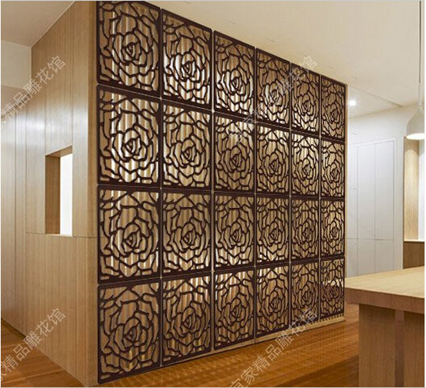 Wooden Hanging Screen Fashion Partition Bedroom Wall Post