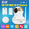 Wireless Wifi Mobile Remote P2P Mini IP Camera HD 720P Video Security Surveillance CCTV + Motion Sensor + Smoke & Gas Detector