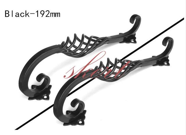 Envío Gratis 2 unids 192mm Negro Hierro Birdcage Gabinete Maneja Gabinete de Cocina Armario Cajón Perillas Dresser Tirones Tirón Único Negro perilla
