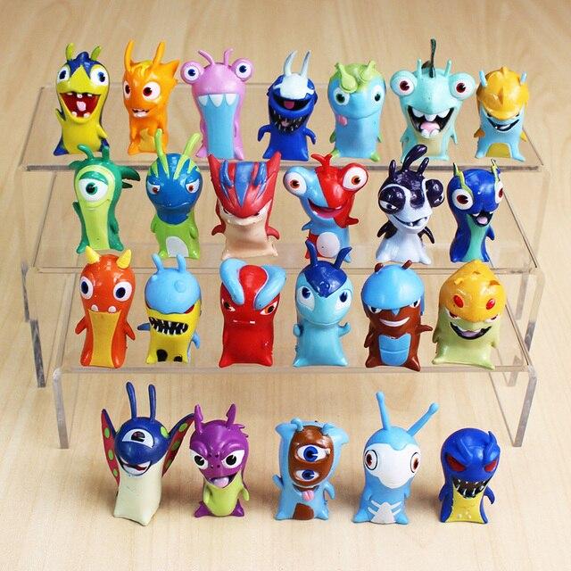 24 יח\חבילה 5cm קריקטורה Slugterra PVC פעולה דמויות צעצועי בובות חג המולד מתנה לילדים