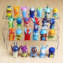 24pcs/Lot 5cm Cartoon Slugterra PVC Action Figures Toys Dolls Christmas Gift for Children