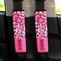 2 pçs/lote mulheres bonito cintos de segurança do carro cobre & padding bow leopard print tampa do cinto de segurança almofada de ombro mocmoc menina