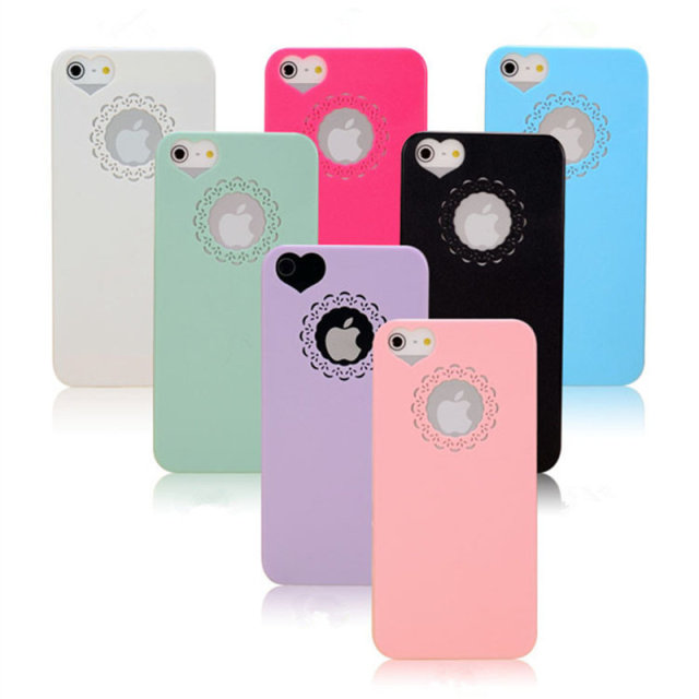 half off efe23 00a73 US $1.55 |Cute Candy Colored Heart Flowers Lace Pop Socket Design Mobile  Phone Protective Cover Case for Iphone5S 5 4 4S 6 6S 6 6splus on ...
