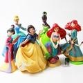 6 pcs/set Kids my cute little Snow White Mermaid Set figures Toy Action dolls poni for children birthday gift doll Anime