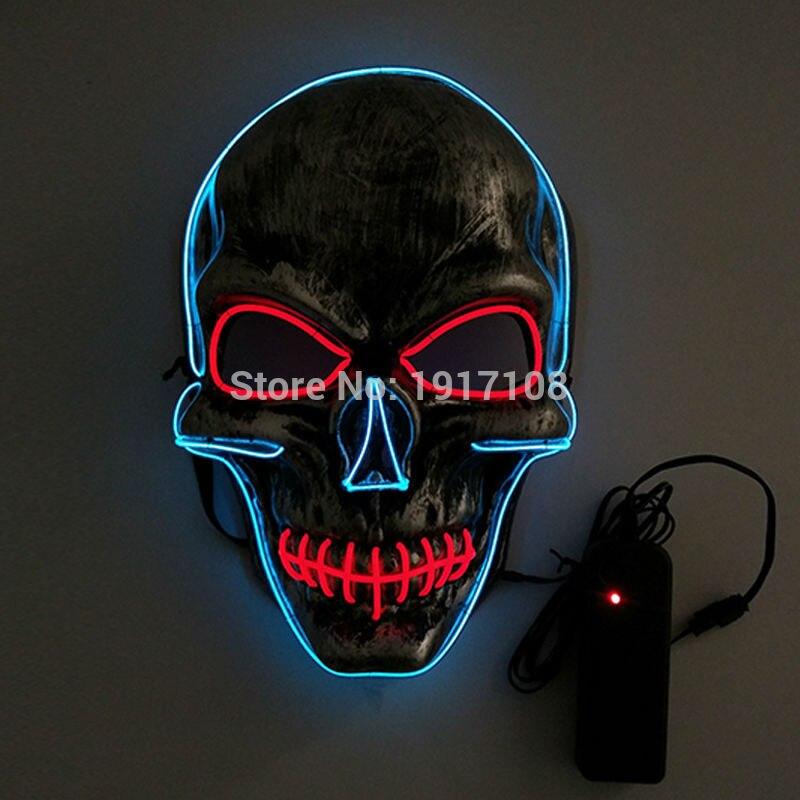 Nova noč čarovnic za maske maskarada z glavo lobanje Moda LED - Prazniki in zabave - Fotografija 1