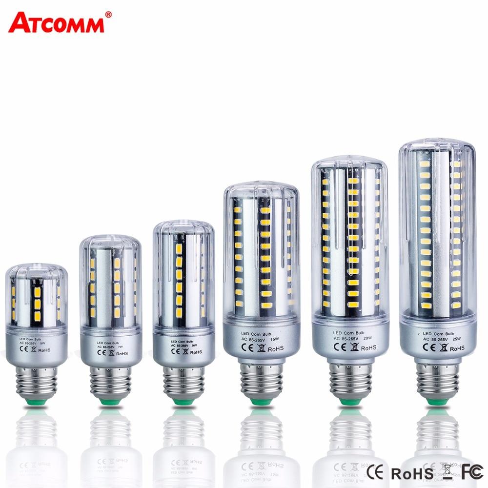 E14 E27 LED Diode Lamp 85-265V 5W 7W 9W 15W 20W 25W High Lumen No Flicker SMD 5736 Ampoule Led E27 Corn Bulb led bulb 5736 smd more bright 5730 led corn lamp bulb light real full wat 3 5w 5w 7w 8w 12w 15w e27 e14 85v 265v no flicker