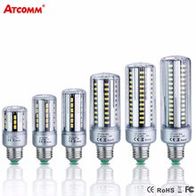 E14 E27 LED Diode Lamp 85-265V 5W 7W 9W 15W 20W 25W High Lumen No Flicker SMD 5736 Ampoule Led E27 Corn Bulb(China)