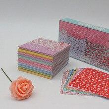 Ремесло художественная бумага дети милый DIY квадратный цветочный узор оригами Бумага сложенная ручной работы Бумага Ремесло Декор модели игрушки