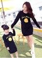 2016 del otoño del resorte camisetas girasol vestido de madre e hija madre hija de manga larga a juego ropa mommy and me ropa