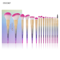 Docolor 16PCS Professional Makeup Brushes Fantasy Brush Set Foundation Powder Eyeshadow Kits Gradient Color Makeup