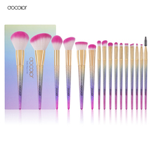 Docolor 16PCS Professional  Makeup Brushes Fantasy brush Set Foundation Powder Eyeshadow Kits Gradient color makeup brush set