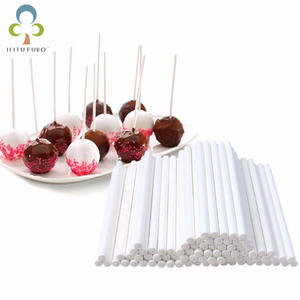 Solid-Core Sucker-Sticks Paper Lolly Chocolate Candy White Sugar for Pop TDJ
