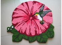 Special Shipping Bird Shaped Red Morning Glory Stairs Bedroom Carpet Floor Mats Coffee Table Cushion Pad