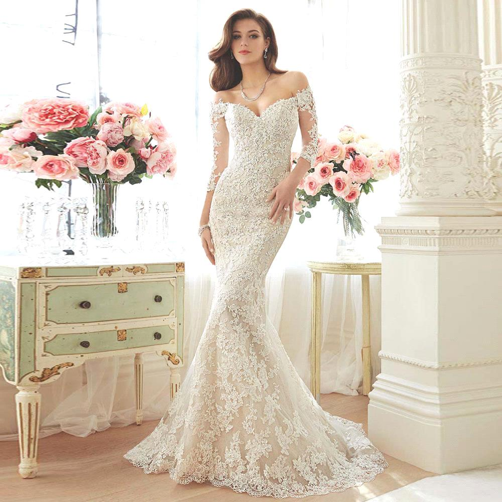 wedding dresses ivory half sleeve wedding dress free shipping cheap aline wedding dresses ivory black half sleeve lace up tea length applique lace scoop in stock sheer bridal gowns