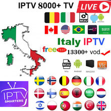 Best Stable IPTV m3u subscription iptv italy German French Poland Spain subscription Android Box m3u Enigma2 Smart TV PC Linux(China)