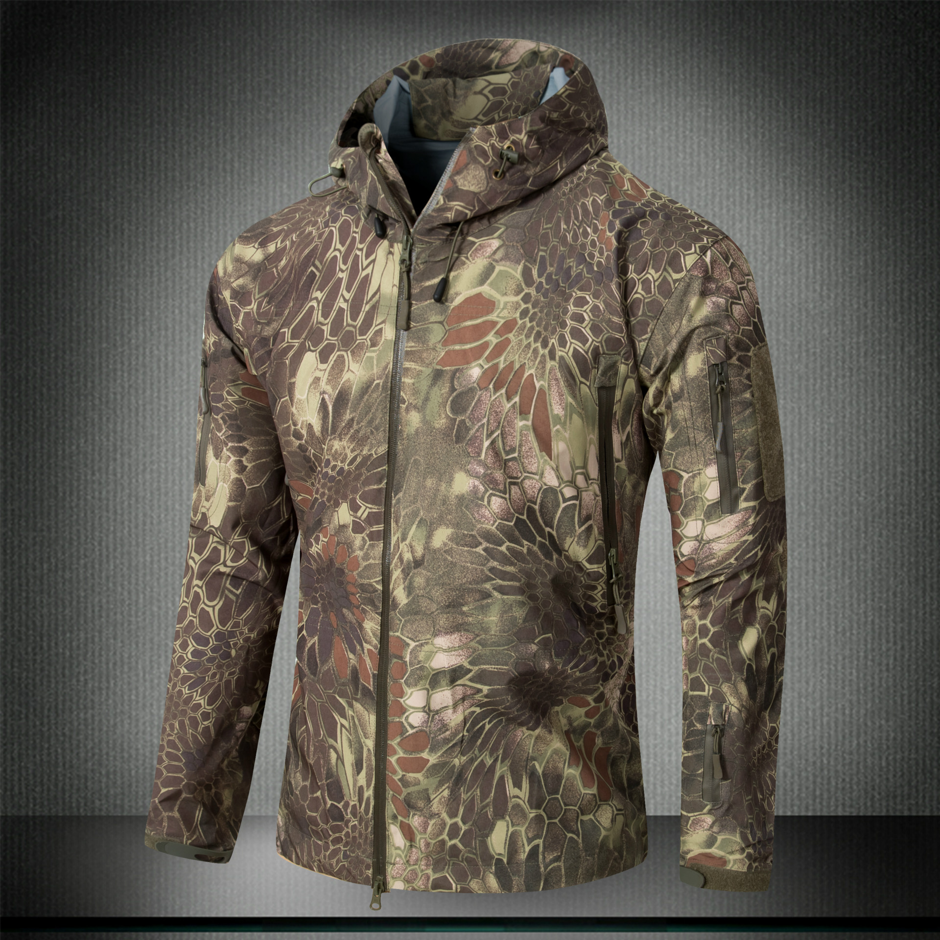 Mandrake Men's Waterproof Windproof Softshell Fleece Army Tactical Outdoor Casual Jacket Coat With Hood