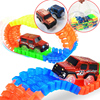 600 Tracks & 2 Cars Gift Packs Handbag Glowing racing track set Glow in dark Led car toy Glow Race Track Cars toys for children