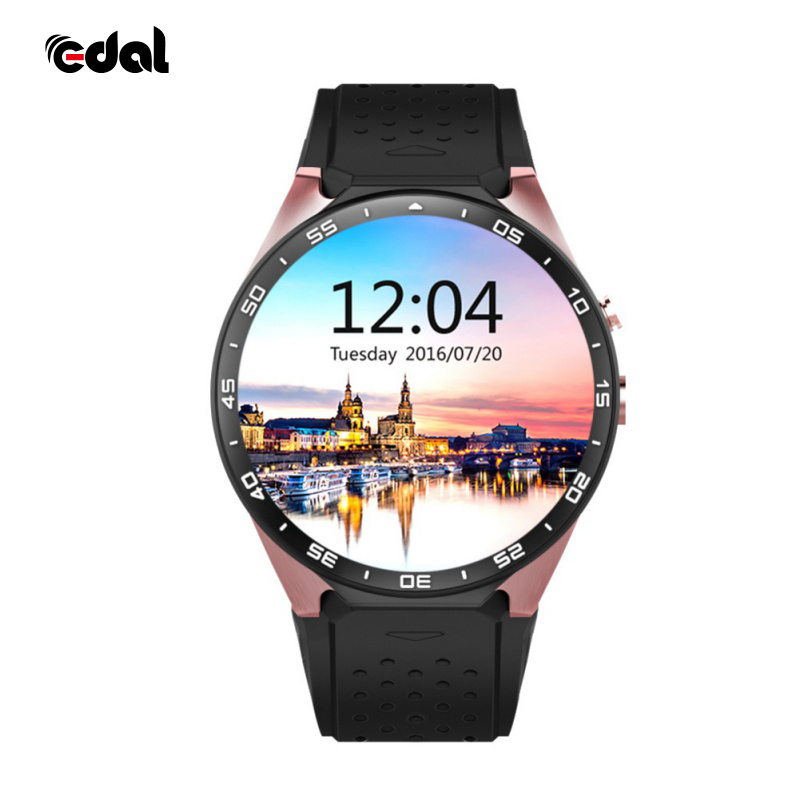 Gold Round Business Android GPS Smart Watch CPU MTK6580 1.39 inch Screen 2.0MP Camera 3G WIFI Smartwatch For Fashion People smart baby watch q60s детские часы с gps голубые