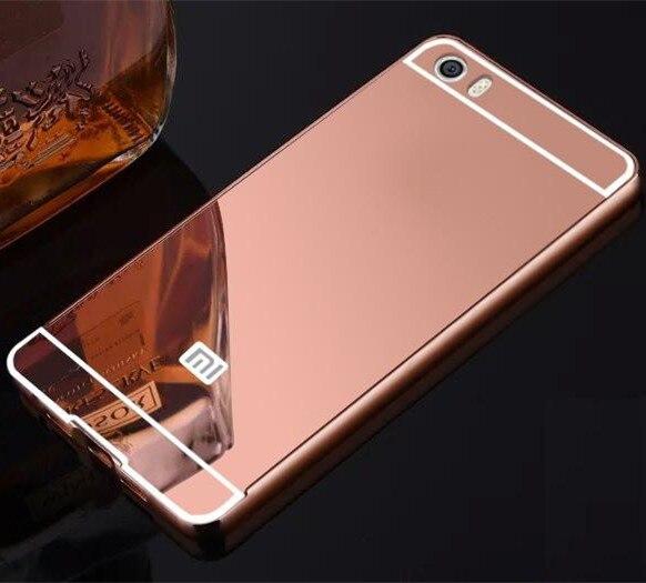 Розкішні Алюмінію, Акрилу Дзеркало Чохол Для Xiaomi Mi 5 Мобільного Телефону Захисна Кришка Для Xiaomi Mi5 M5