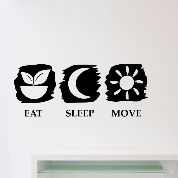 Transer Eat Sleep Play Basketball Quotes Wall Sticker Decal Home Boys Room Decoration Black Cooktops