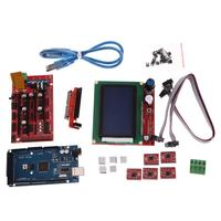 3D Printer Kit Parts RAMPS 1 4 MEGA2560 A4988 LCD 12864 Controller Board For Arduino Compatible