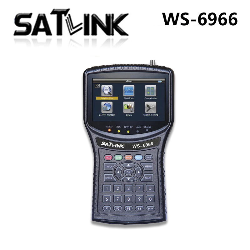 Satlink WS-6966 Satellite Finder Meter MPEG4 DVB-S2 6966 HD HDMI  Singnal freeshipping anewkodi original satlink ws 6906 3 5 dvb s fta digital satellite meter satellite finder ws 6906 satlink ws6906