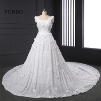 New Arrival 2016 Custom Made White Ivory Lace Sexy Bride Dresses A Line Beach Wedding Dress