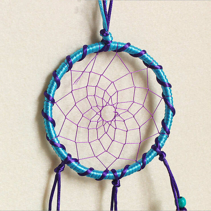 Dream Catcher Without Feathers Bluepurple Feather Catcher Dreams Indian Dream Catcher Home 5