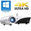 3D DLP HD 4K Projector Windows 10 Projector WIFI 2500 lumens Home Cinema Video  Projector Dual Bluetooth WIFI Beamer with HDMI