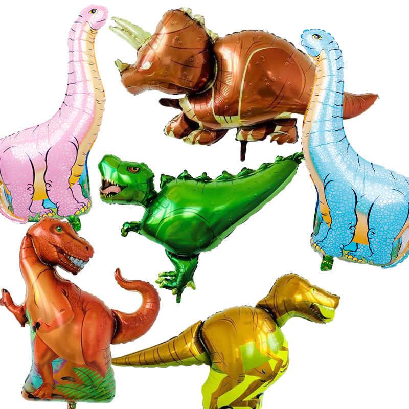 1pc gigante dinossauro folha balão menino animais balões crianças aniversário selva festa dinossauro jurássico mundo decorações ballon
