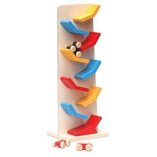Игрушек! Обучающая красочная деревянная игрушка скользящая машинка скользящая Гоночная машина падение детей день рождения Рождественский подарок 1 шт