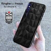 Ringke אוויר קייס גמיש TPU מקרה עבור iPhone X פריזמה 3D יהלומי עיצוב הגנת כרית מיקרו