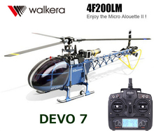 100% Original Walkera Dragonfly 4F200LM With DEVO 7 Transmitter 6-channel CCPM Metal RC Helicopter RTF