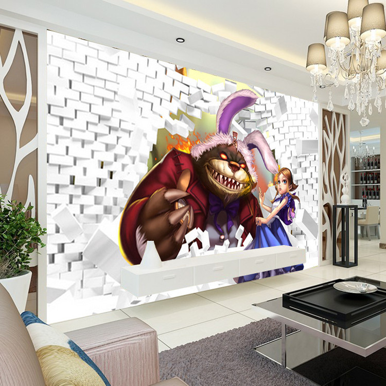 Free Shipping League Of Legends Photo Wallpaper 3D Classic Game Wall Mural Custom Boys Bedroom Livingroom Silk Art Room Decor Kids Home