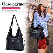 YILIAN2019 new single-shoulder bag soft leather multi-functional fashion womens K6902