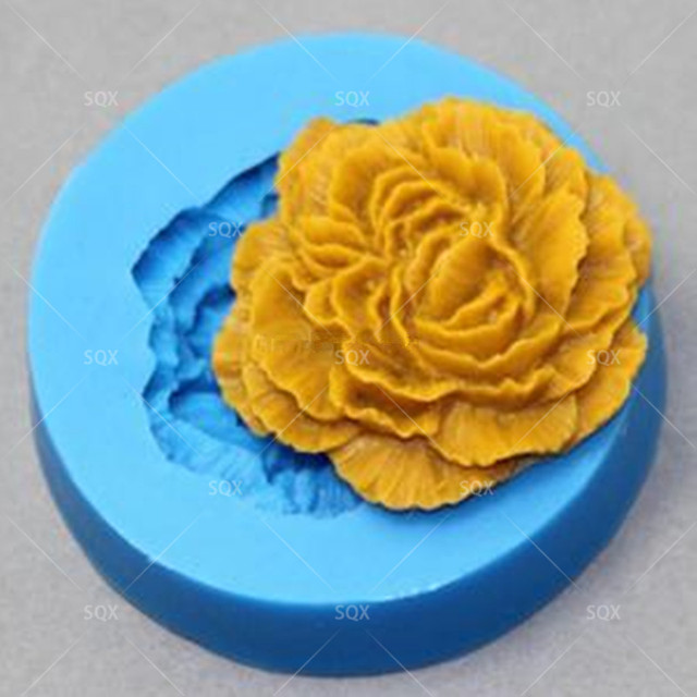 Mini flower fondant silicone mold suagr styling mould for wedding ...