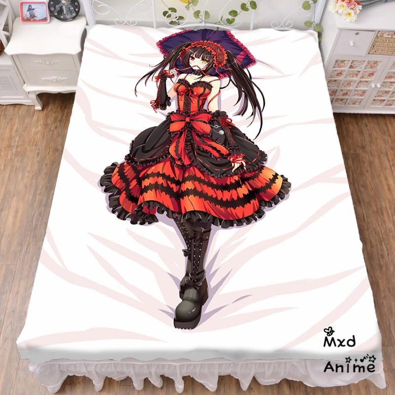 Japonais Anime Date un drap de lit en direct jeter couverture literie couverture Cosplay cadeaux plat feuille cd012