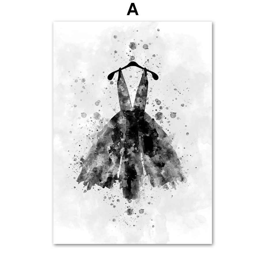 하이힐 립스틱 드레스 메이크업 벽 아트 캔버스 회화 포스터 및 인쇄 벽 장식 거실 장식